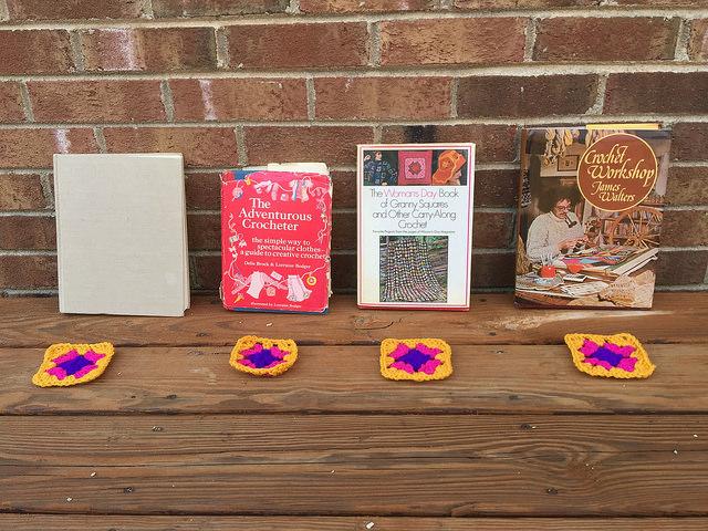 four crochet books