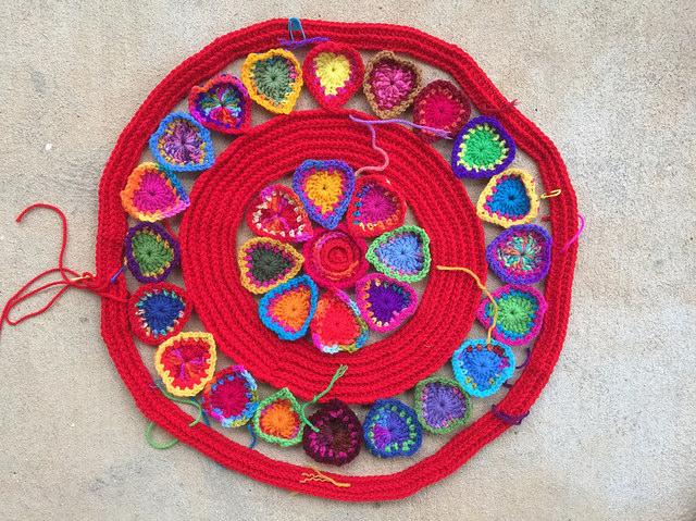 crochet hearts crochet rings