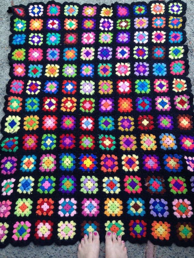 Joan Noble's granny square afghan