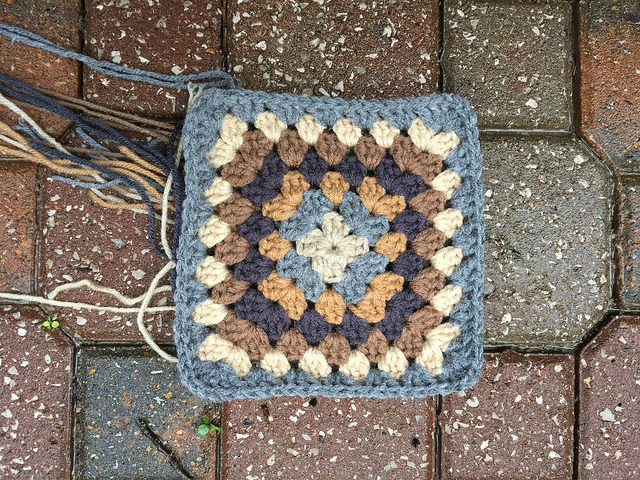 My second granny square basket gets a bit bigger