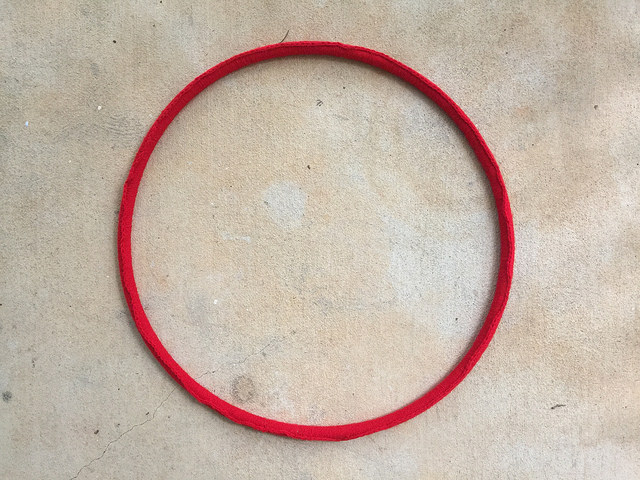 crochet around a hoop