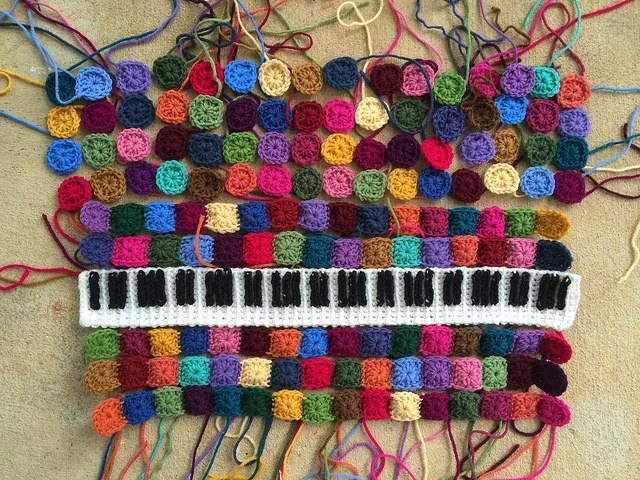 crochet keyboard crochet squares crochet granny squares