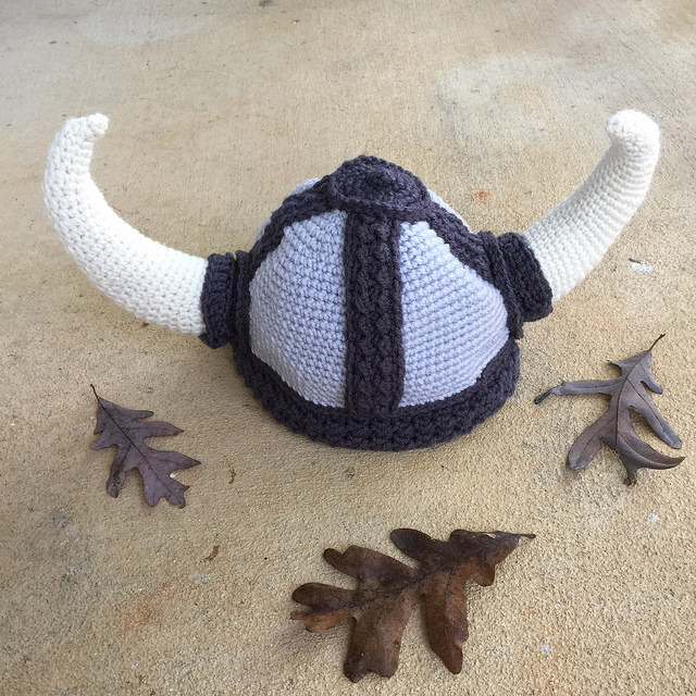 crochet viking helmet crochet hat