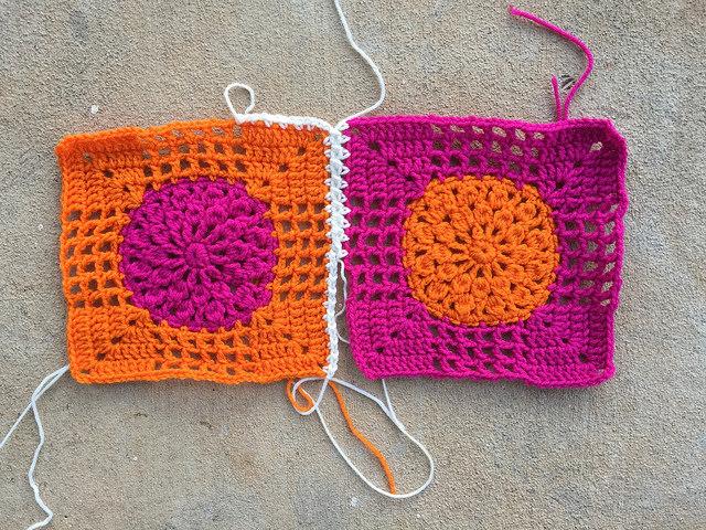 crochet for two crochet squares