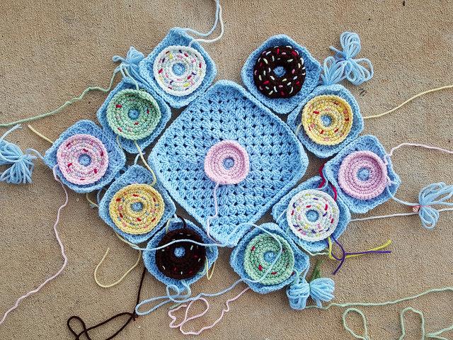 crochet donut crochet bag