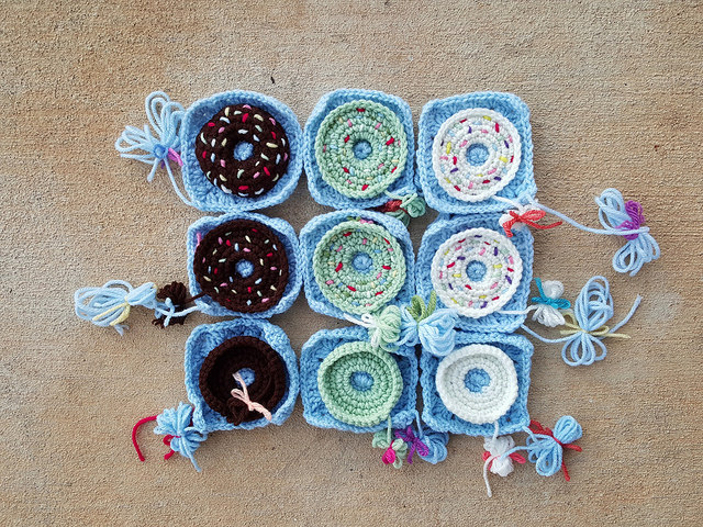 crochet donut granny squares