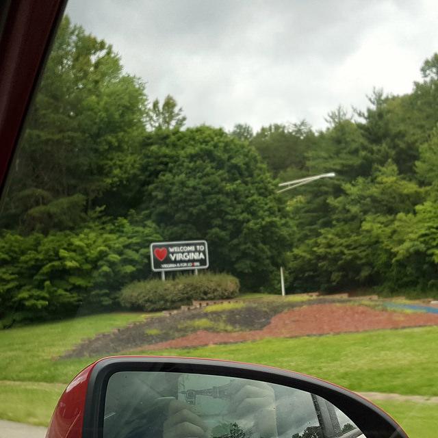 North Carolina border Virginia border