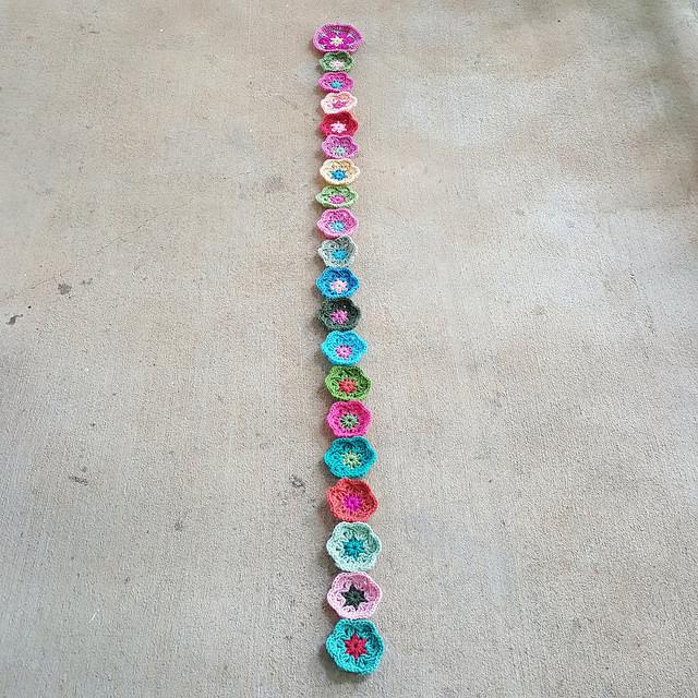 crochet hexagon motifs for a future crochet soccer ball