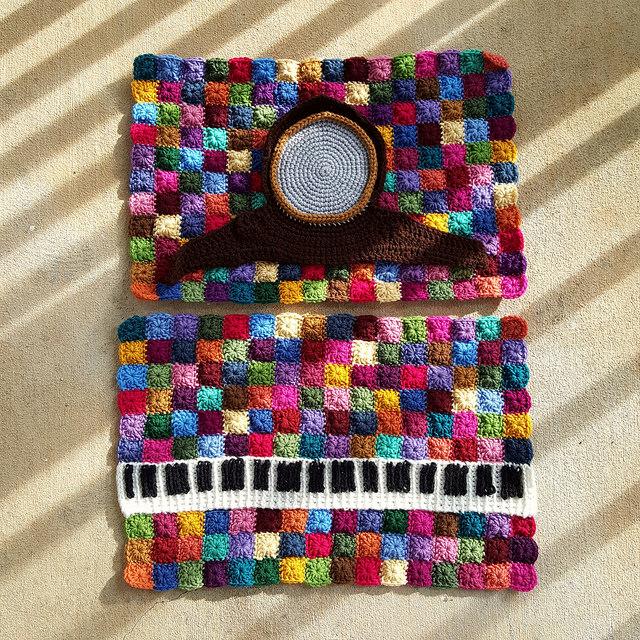 crochet clock crochet keyboard