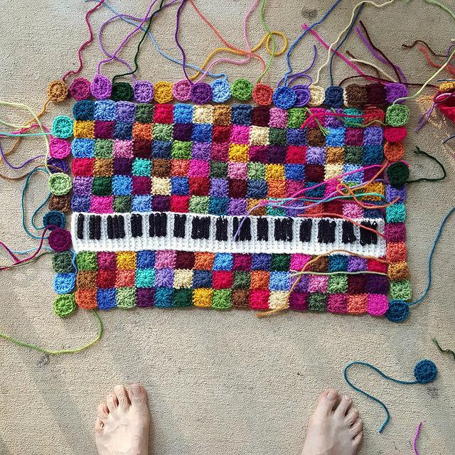 crochet keyboard crochet squares
