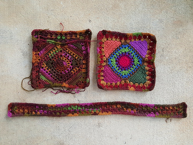 crochet pieces for granny square purse