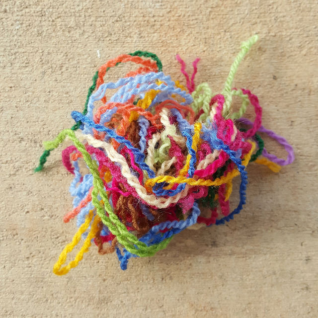 yarn for embroidery on crochet pieces