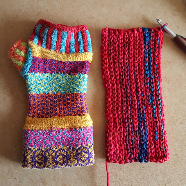slip stitch crochet fingerless gloves