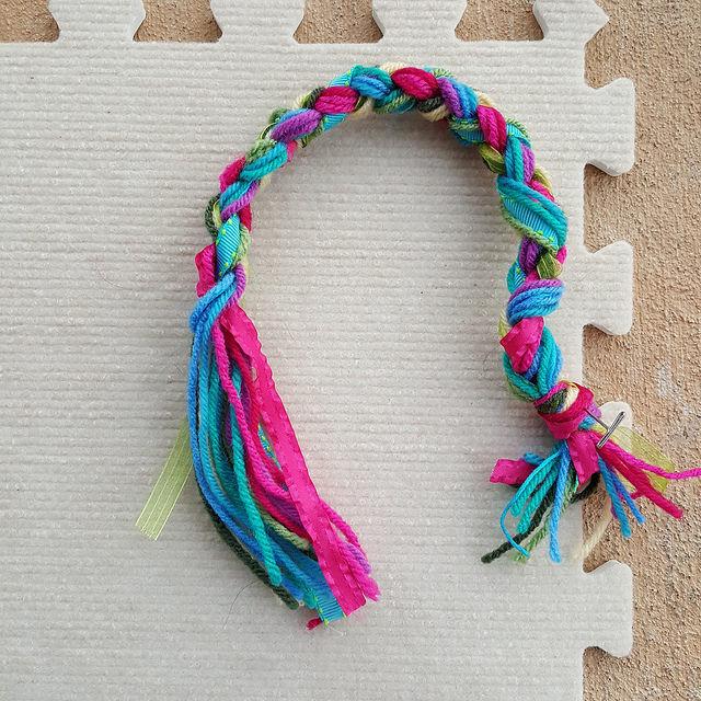 A four plait braid