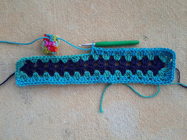 granny crochet rectangle