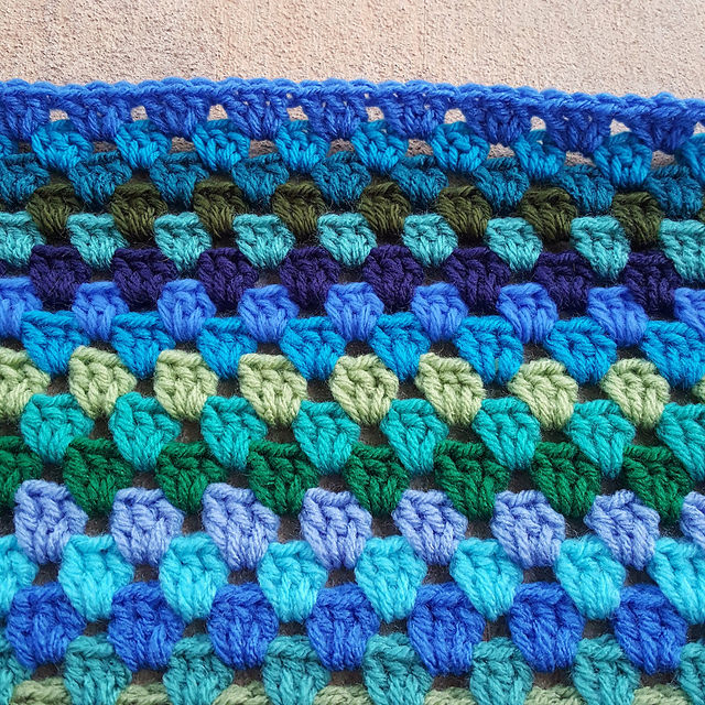 A blue crochet edge