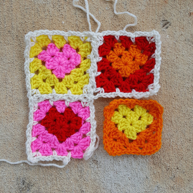 crochetbug, crocheted, crochet, crocheting, crochet hearts, crochet heart, graphic crochet heart, graphic granny square heart, granny squares, crochet squares