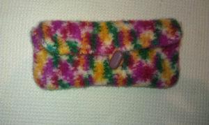 felted crochet hook case