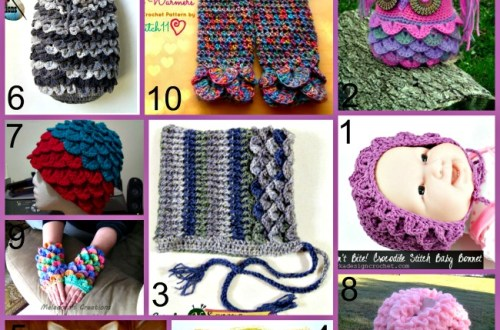 Link list 27 Crochet Patterns Using Crocodile Stitch