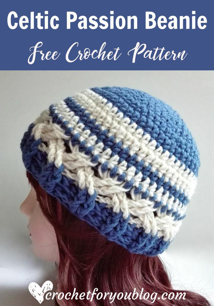 Celtic Passion Beanie Free Crochet Pattern