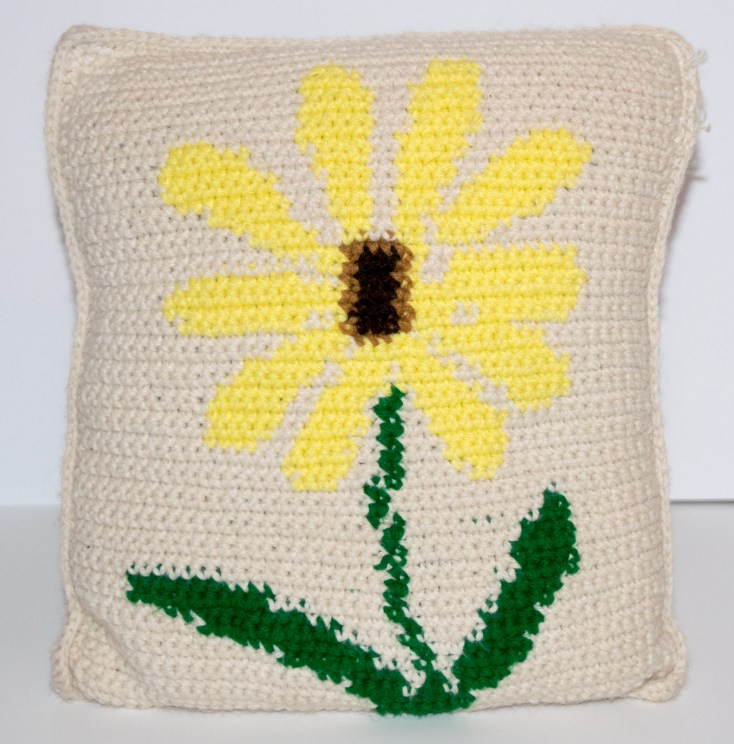 Yellow Flower Graph Crochet