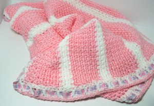 Pink Woven Stitch Afghan