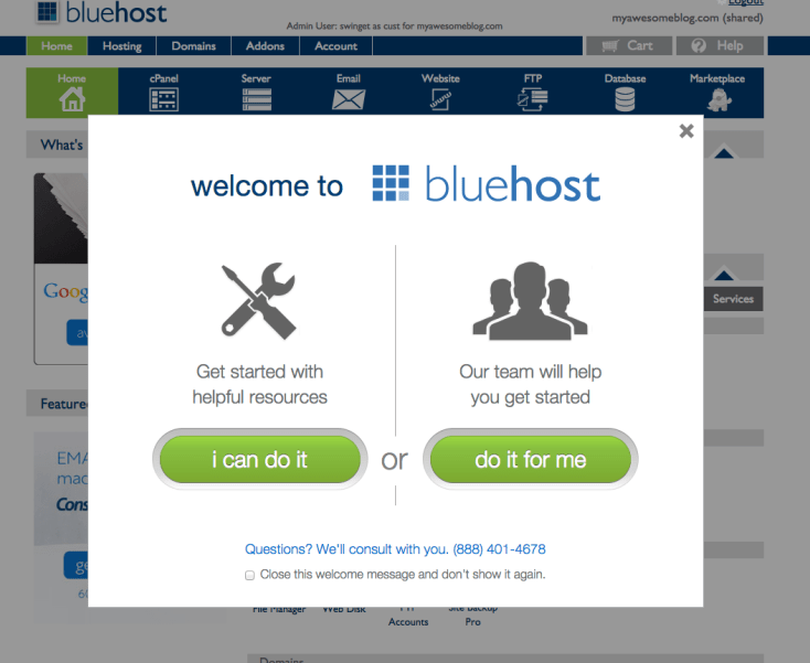 Bluehost and WordPress for Blog