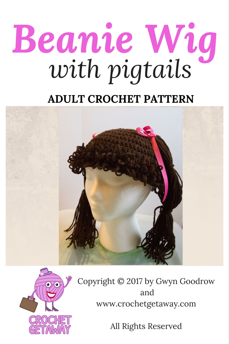 What\'s on YOUR Hook? Crocheted Pigtail Wig with Loopy Bangs (Bonus ...