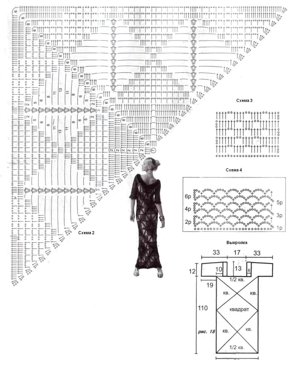 Squares Crochet Lace Dress Crochet Kingdom