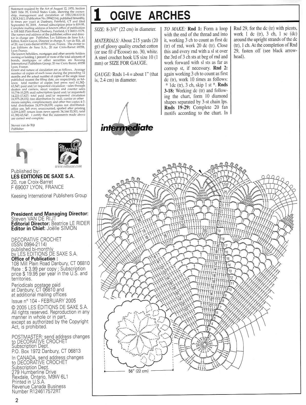 Ogive Arches Crochet Doily Pattern Crochet Kingdom