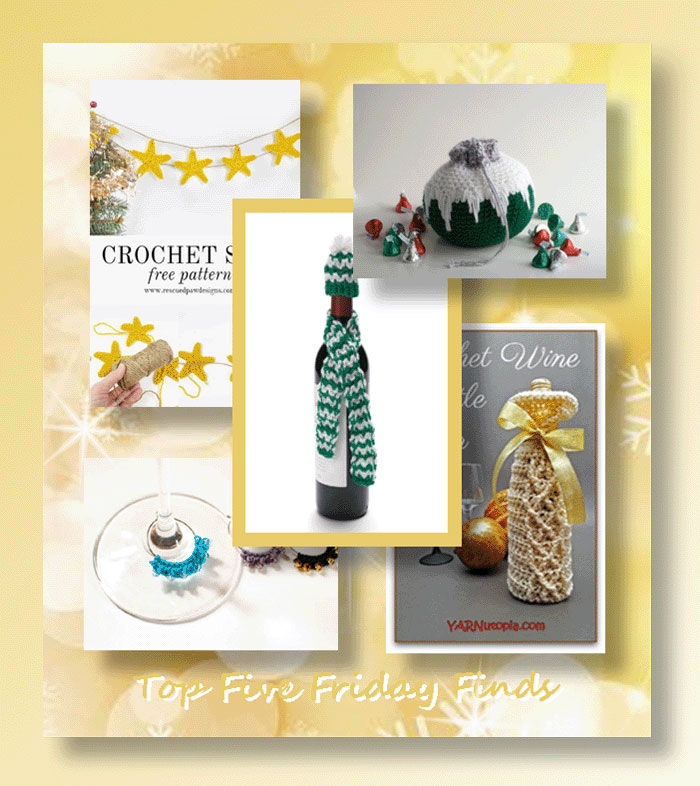 Top Five Friday Finds - Free Crochet Patterns for New Years!