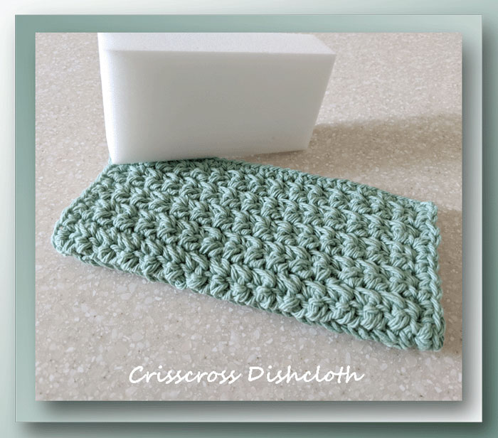 Crisscross Dishcloth (Free crochet pattern)