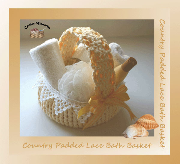 Country Padded Lace Bath Basket
