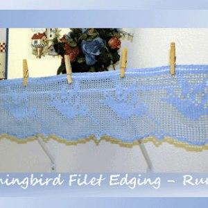 Hummingbird Filet Edging-Runner