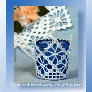 Diamond Windows Candle Holders