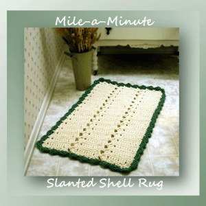 Mile-a-Minute Slanted Shell Rug
