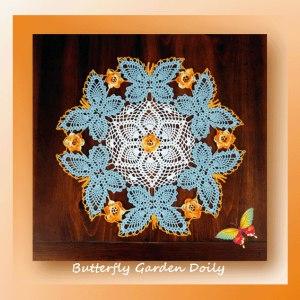 Butterfly Garden Doily