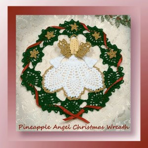 Pineapple Angel Christmas Wreath