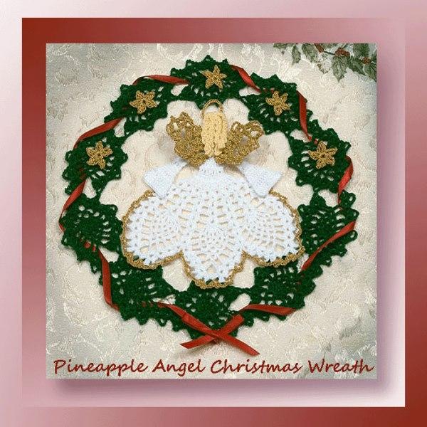 Pineapple Angel Christmas Wreath
