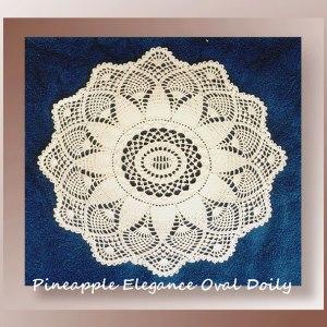 Pineapple Elegance Oval Doily