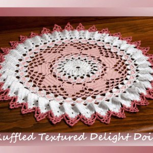 Ruffled Textured Delight Doily