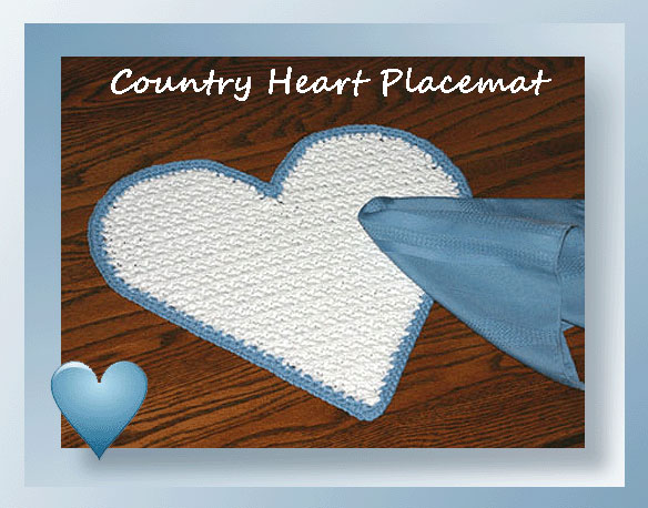 Country Heart Placemat Crochet Placemat Patterns