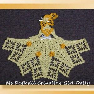 Ms Daffodil Crinoline Girl Doily