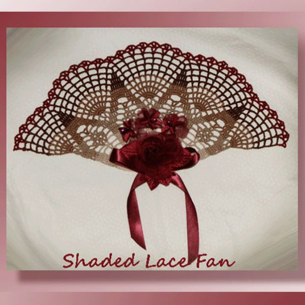 Shaded Lace Fan