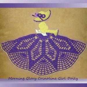 Morning Glory Crinoline Girl Doily