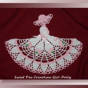 Sweet Pea Crinoline Girl Doily