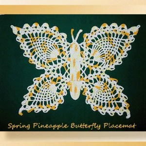 Spring Pineapple Butterfly Placemat