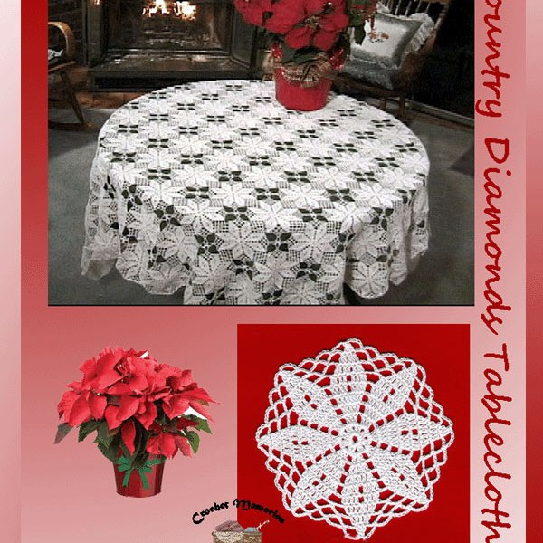 Country Diamonds Tablecloth and Matching Napkin Ring