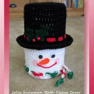 Jolly Snowman Bath Tissue Cover