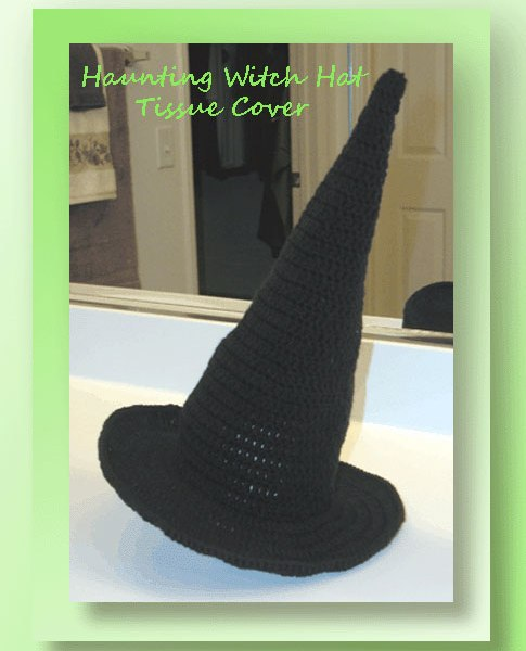 Haunting Witch Hat Tissue Cover